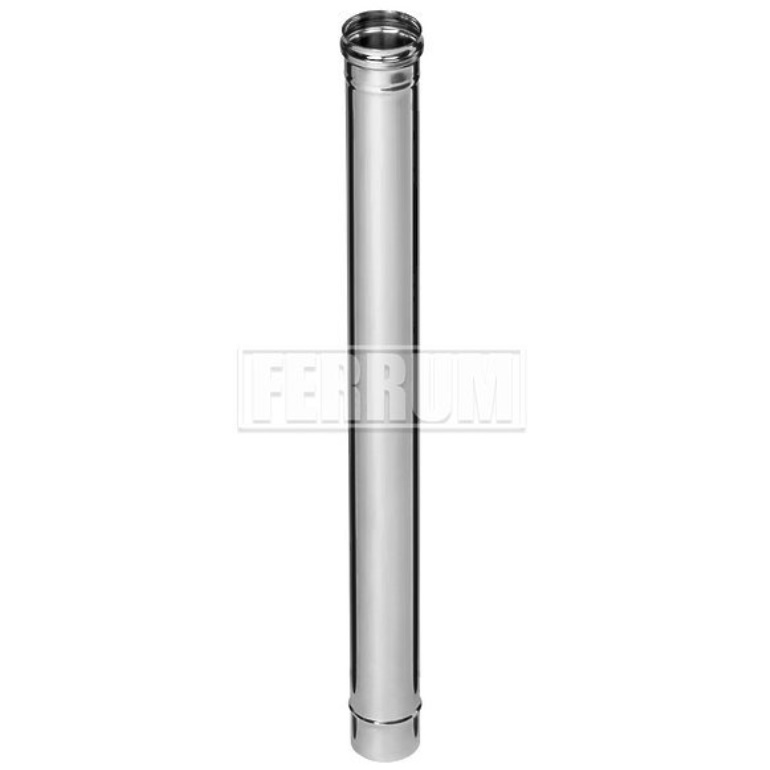 Дымоход одностенный Ø115 1 м 0,5 мм Ferrum